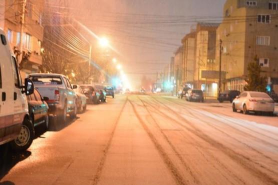 Volvió a nevar en la ciudad