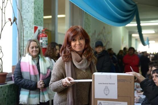 El mensaje de Cristina después del voto
