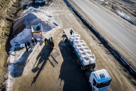 Envían mil toneladas de sal al municipio de Ushuaia