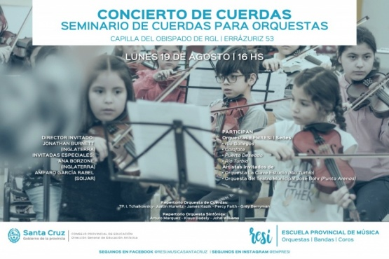 Brindarán seminario de cuerdas a estudiantes y profesores de la Escuela Re Si