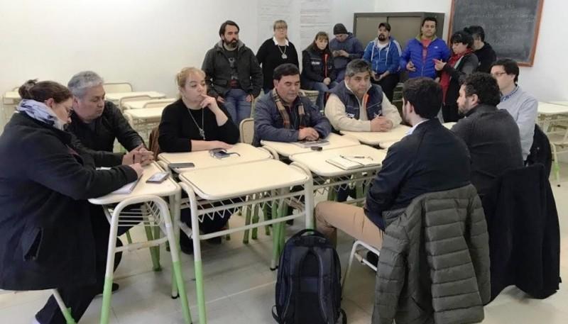 La paritaria se realizó en el Concejo Deliberante.