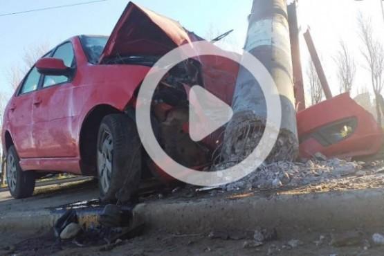 Chocó, se habría dado a la fuga y se estrelló contra una columna de cemento
