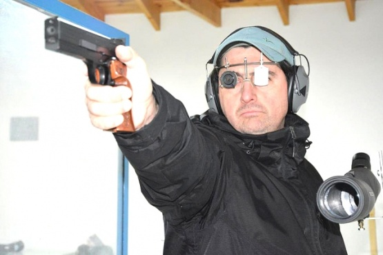 Carlos Maldonado en acción.