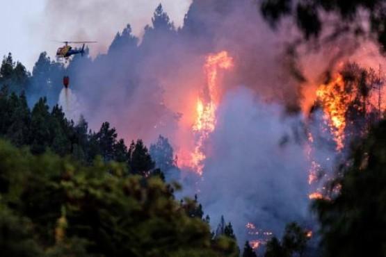 Incendio en Gran Canaria avanza y obliga a evacuar a 9.000 personas