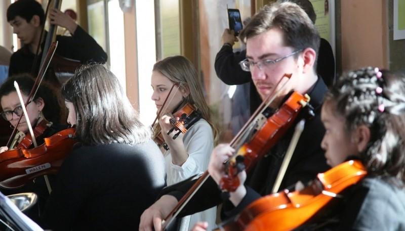 Participaron orquestas de Río Gallegos, El Calafate, Puerto Deseado y Río Turbio. (C. G)