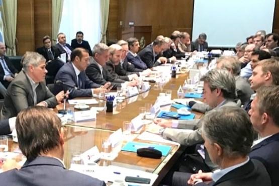 La reunión se realizó en el palacio de Hacienda.