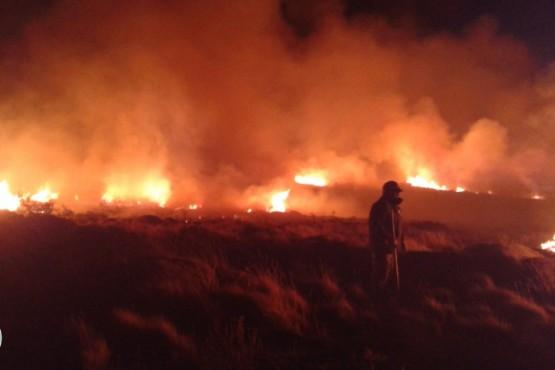 Incendio en la zona de Lago San Martín