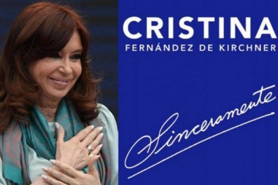 Cristina presentaría su libro Sinceramente en Tierra del Fuego