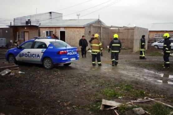 Principio de incendio en asentamiento
