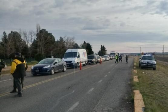 Corte en Trelew paralizó el tránsito hacia Puerto Madryn