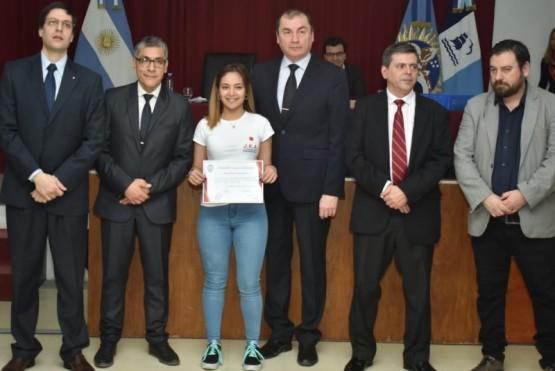 Karateca reconocida en el Concejo Deliberante