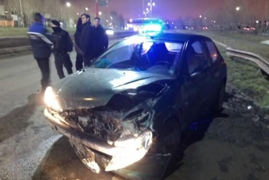Perdió el control y colisionó en la Autovía