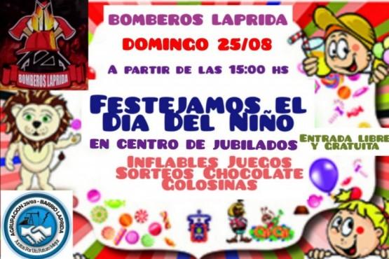 Bomberos Voluntarios festejarán el Día Del Niño