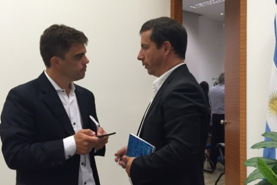 Omar Zeidán y Sergio Lumachi, autoridades de YCRT. (Archivo).