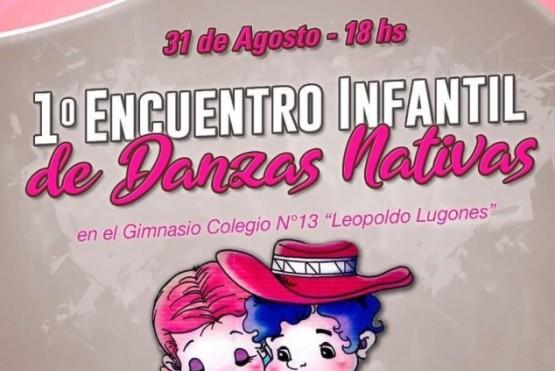 Hoy se realiza el 1° Encuentro Infantil de Danzas Nativas