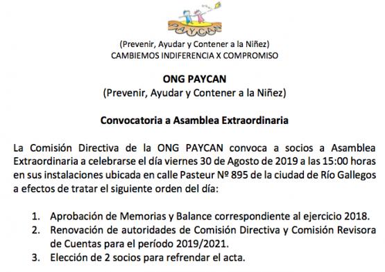 CONVOCATORIA PAYCAN