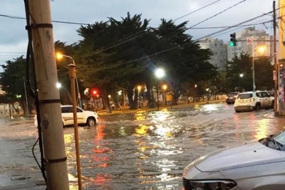 Las calles repletas de agua.