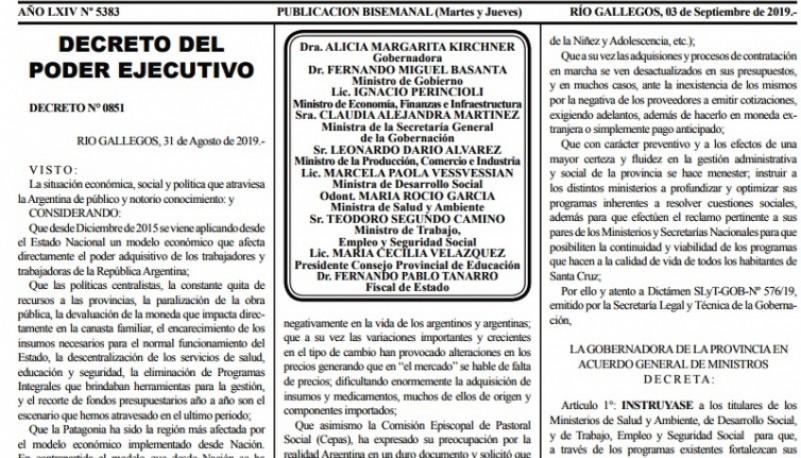 La publicación del decreto tiene una fuerte crítica política a Nación.