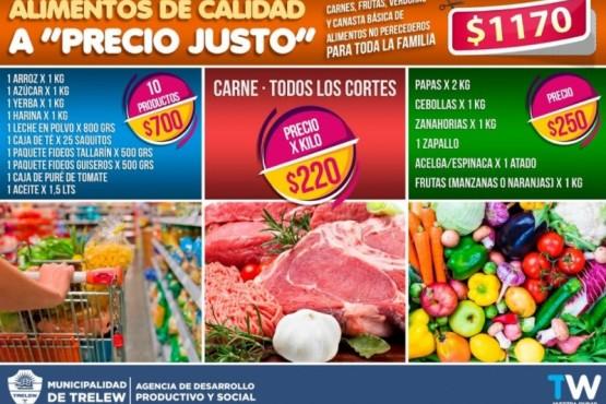 """Precios del programa de Canastas Alimenticias a """"Precios Justos."""