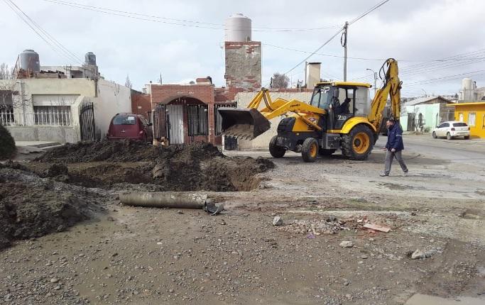 Trabajos realizados en Caleta Olivia.