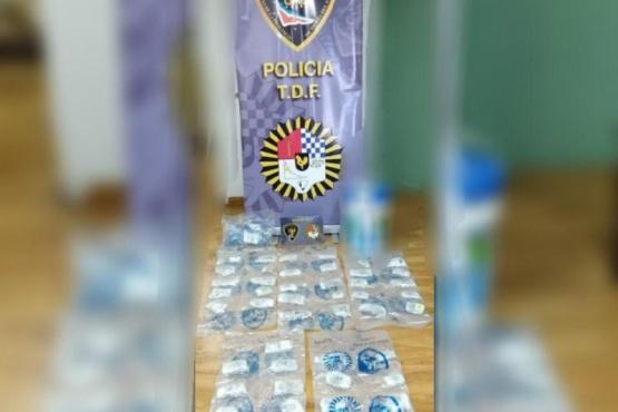 El decomiso que realizó la fuerza policial.