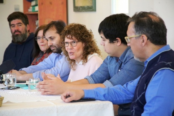La conferencia de prensa fue brindada en el local de Encuentro Ciudadano. (C.G.).