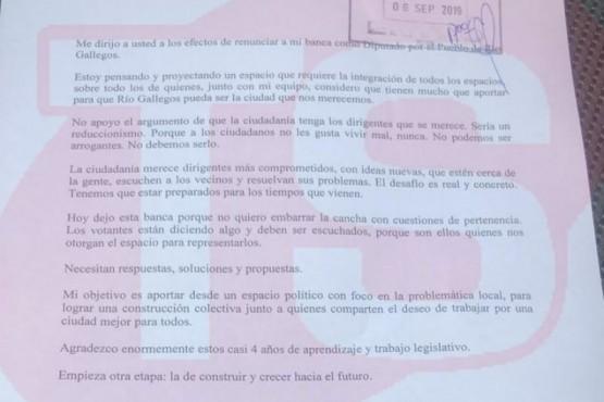 Santiago Gómez presentó su renuncia a Diputado por Pueblo