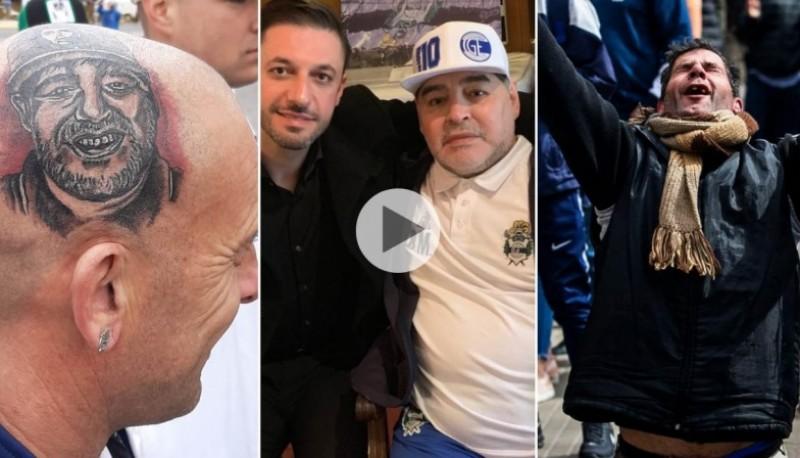 La revolución de Maradona en tres fotos.