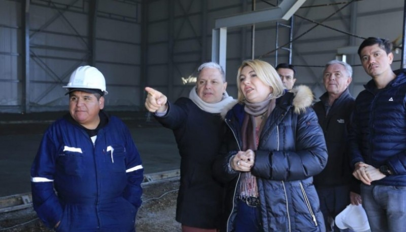 """""""Para nosotros es una alegría recorrer obras que son realidad para Tierra del Fuego"""", concluyó Vázquez."""