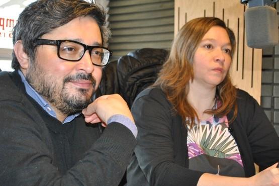 Canto y Behrens en los estudios de Tiempo FM (Foto J.C.C.)