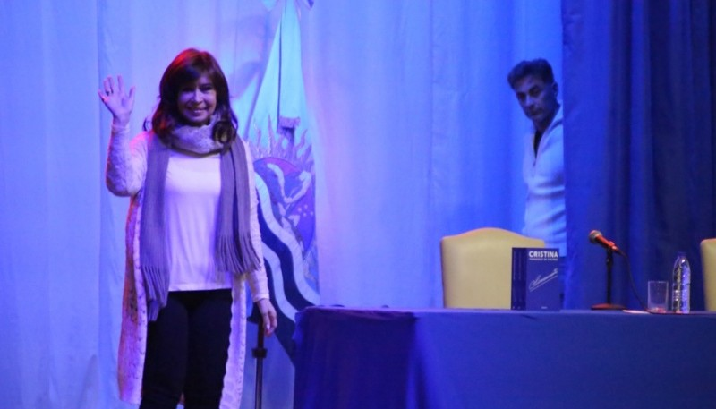 En julio Cristina Fernandez de Kirchner estuvo en el Boxing Club - RíoGallegos. (Foto C. González))