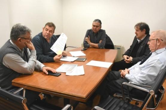 Blas Mesa Evans y Manuel Pagliaronni recibieron a representantes médicos.