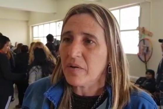 La secretaria de ATE, Verónica Rosales. habló sobre las medidas de fuerza.