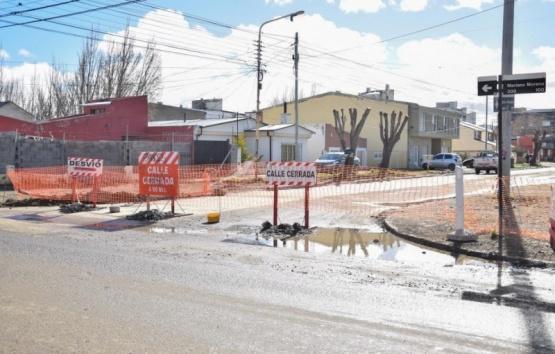Obras realizadas sobre la calle.