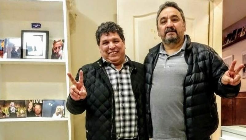 """NicolásBrizuela junto a """"Rudy"""" Fernando Ulloa."""