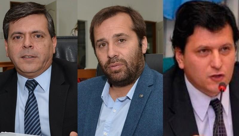 Fiabián Leguizamón, Daniel Roquel y Mauricio Gómez Bull van por la intendencia.