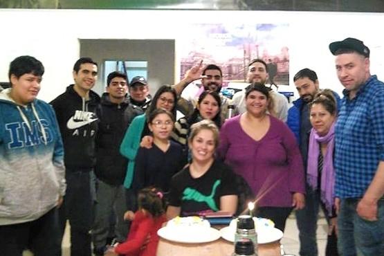 Integrantes del Comité UCR en Caleta Olivia.