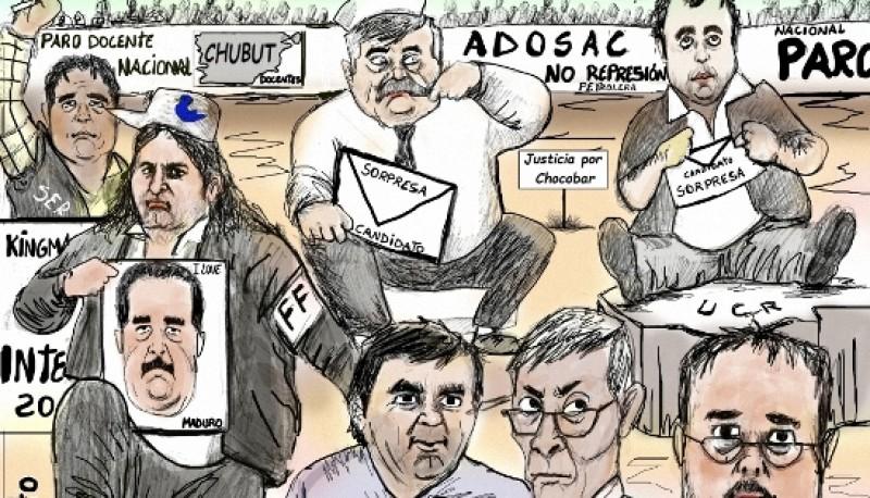 Personajes de la política en la Picada (Foto Tintoretto)