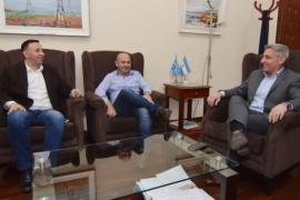 Arcioni recibió a Sastre y Maderna en Casa de Gobierno