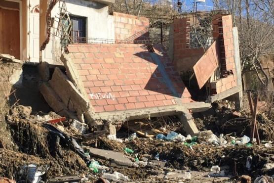 Así quedó la casa de una familia que fue evacuada el día de la marejada.