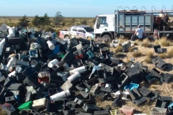 Limpieza. Una parte de los casi 4.000 cajones de la pesca que se limpiaron en los últimos días ante la preocupación de las autoridades de Turismo.