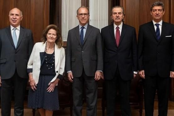 Los cinco miembros de la Corte Suprema: Ricardo Lorenzetti, Elena Highton de Nolasco, Carlos Rosenkrantz, Juan Carlos Maqueda y Horacio Rosatti.