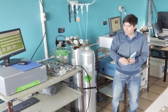El ingeniero Lino Condorí, responsable de la Estación VAG de Ushuaia