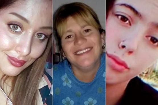 Cielo, María Cecilia y Navila, víctimas de femicidio