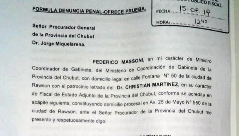 La denuncia fue realizada en el día de ayer.