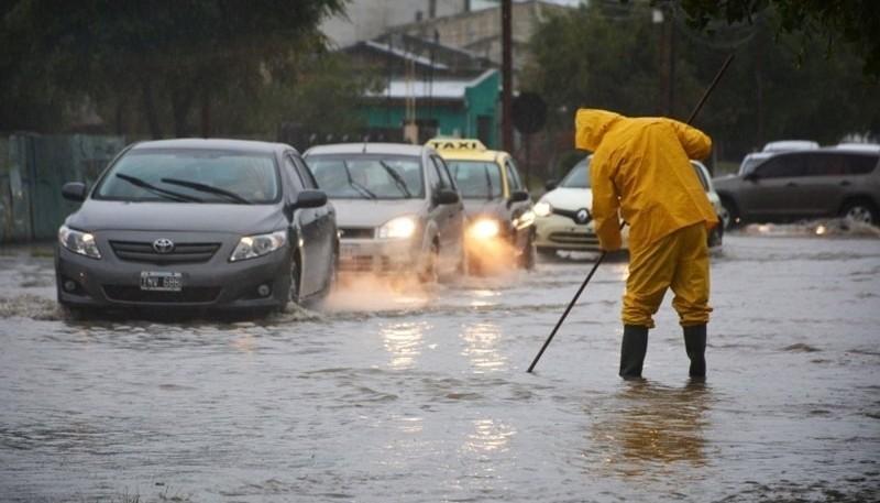 Las lluvias constantes complican muchas sectores en Río Gallegos (Foto archivo)
