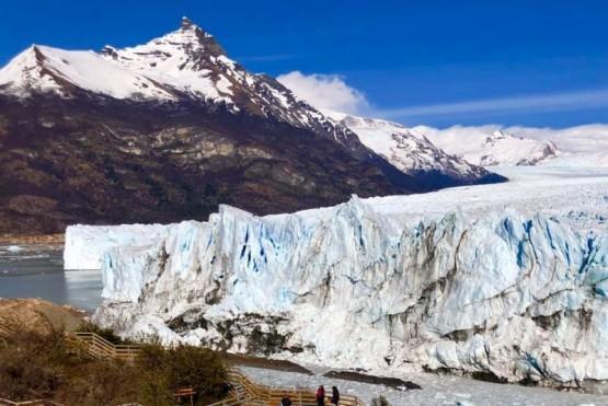 Glaciar Perito Moreno. el paso de agua se encuentra interrumpido desde ayer domingo (Foto:Glaciarium)