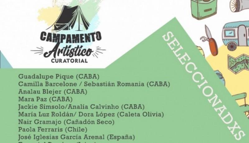 """Los proyectos del """"Campamento Artístico Curatorial Santa Cruz""""."""