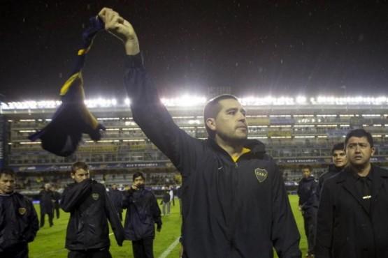 Juan Román Riquelme definió la fecha para su partido despedida. (Foto: AP / Natacha Pisarenko)