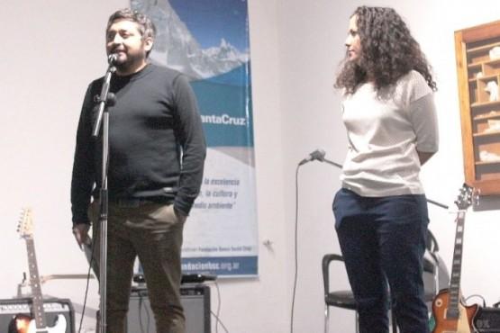 Malena Malbrán, junto al titular de la cartera cultural (Archivo)